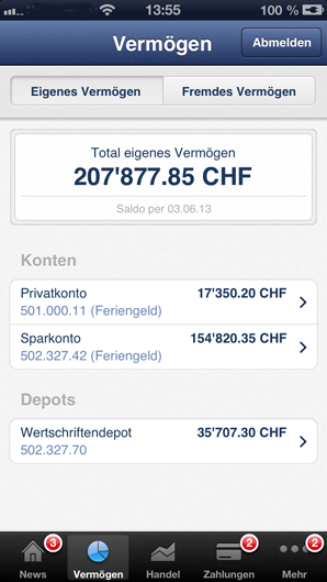 The most versatile Mobile Banking in Switzerland